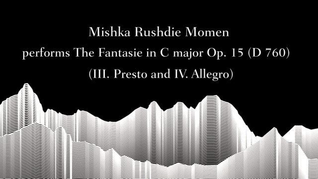 Masterclass with Sir András Schiff – Mishka Rushdie Momen performs Schubert