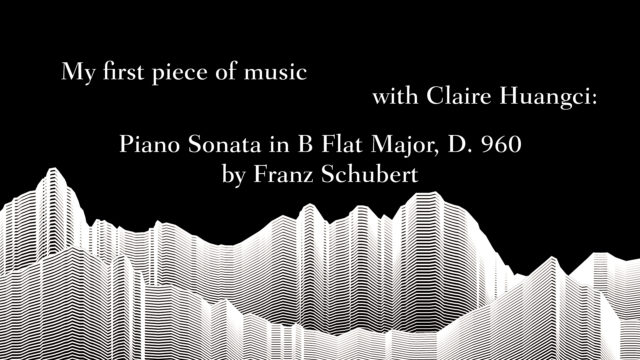 My first piece of music with Claire Huangci